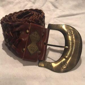Cabi Boho Vintage Wide Leather Belt Size Large